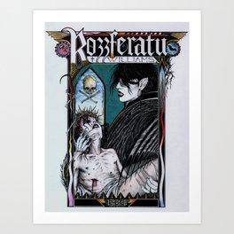 Rozzferatu - Fanart for Rozz Williams Art Print