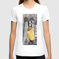lighthouse T-shirts featuring lighthouse by The Traveling Catburys
