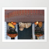 Yellow Lab in the Fall Art Print