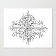 starburst line art - white Canvas Print