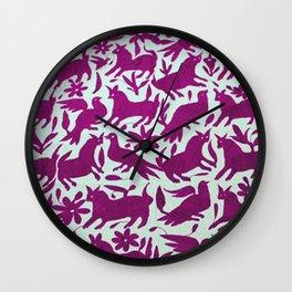 Otomi Magenta Wall Clock