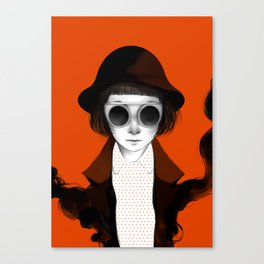 Orange Satine Canvas Print