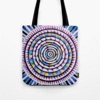 fibonacci Tote Bags featuring 12 Rings of Fibonacci by Todd Huffine
