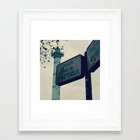 bastille Framed Art Prints featuring Bastille by iokk