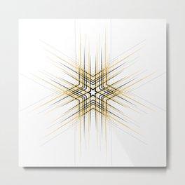 Yellow Affiche Scandinave design, modern minimalist art Metal Print