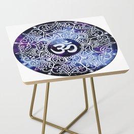 Om Galaxy Mandala Side Table