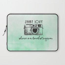 SHARE LOVE . SHARE ON BOOKSTAGRAM Laptop Sleeve