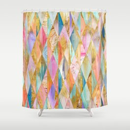 Justine Abstract Brushstrokes Pattern Shower Curtain