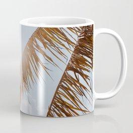 tropical palm leaves v Coffee Mug