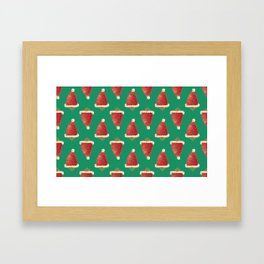christmas strawberry Framed Art Print