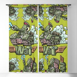 happy spring tank Blackout Curtain