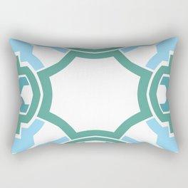 Green rectangle 2 Rectangular Pillow