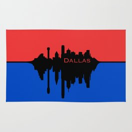 Dallas City Skyline Rug