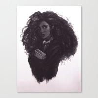 hermione Canvas Prints featuring Hermione by Alexander Scott
