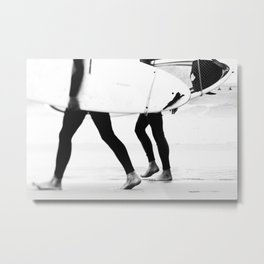 Catch a Wave - abstract surf board photography - part of a series by Ingrid Beddoes Metal Print
