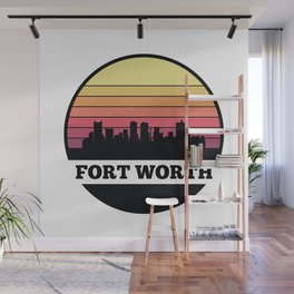 Fort Worth Skyline Wall Mural