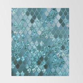 Mermaid Glitter Scales #4 #shiny #decor #art #society6 Throw Blanket