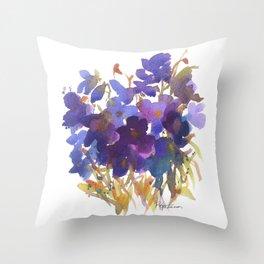 Petite Violets Throw Pillow