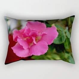 Pink Morning - Bright and Dazzlingly Blooming Rose  @}-,-;-- Rectangular Pillow