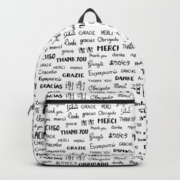 Thank you pattern Backpack