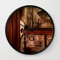 moby dick Wall Clocks featuring Moby Dick by Leon T. Arrieta