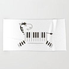 Life is like a piano Beach Towel