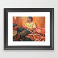 Rayo at Little Morrocco Cafe Framed Art Print