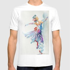Grace in Purple and Blue Mens Fitted Tee White MEDIUM