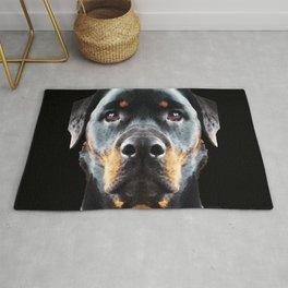 Rottie Love - Rottweiler Art By Sharon Cummings Rug
