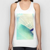 feather Tank Tops featuring Feather by Yilan