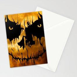 Halloween Creepy Moon Stationery Cards