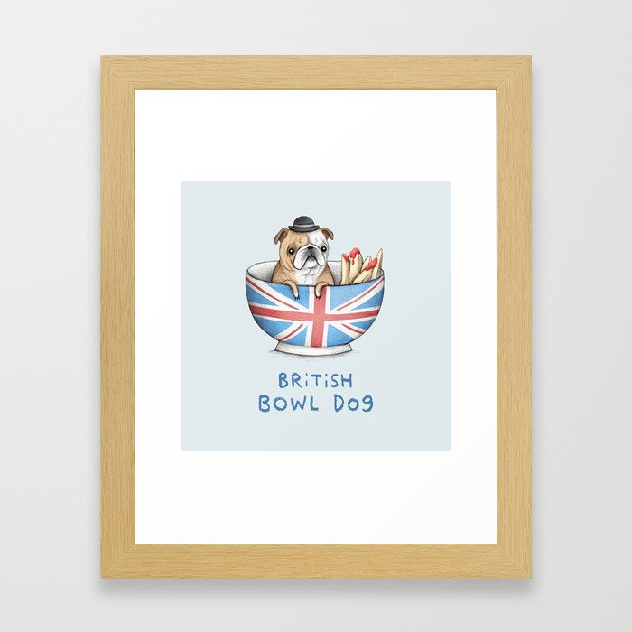 British Bowl Dog Framed Art Print