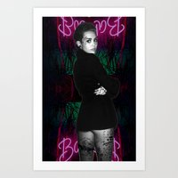 miley Art Prints featuring MileY by yung.peach