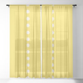 Dotted Line & ILLUMINATING YELLOW Solid Color Sheer Curtain