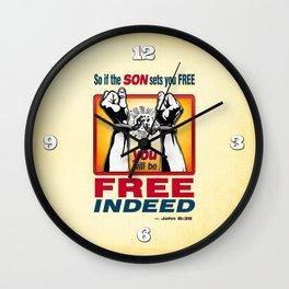 FREE INDEED! Wall Clock
