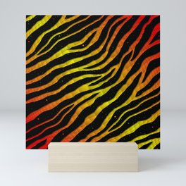 Ripped SpaceTime Stripes - Red/Yellow Mini Art Print