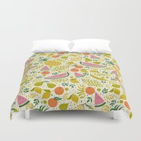 fruit Duvet Covers featuring Fruit Mix by Anna Deegan