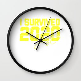 New Year Gift Idea Survived 2020 Welcome 2021 Wall Clock