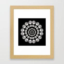 Moon Mandala Framed Art Print