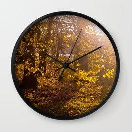 Golden season Wall Clock