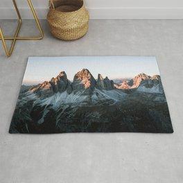 Dolomites sunset panorama - Landscape Photography Rug
