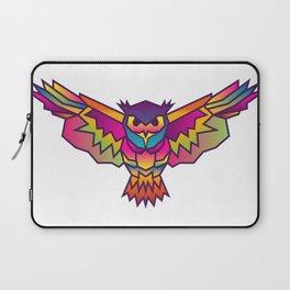 Owl | Geometric Colorful Low Poly Animal Set Laptop Sleeve