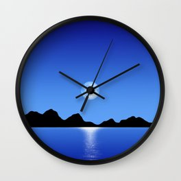Moon Horizon 103 Natural Wall Clock