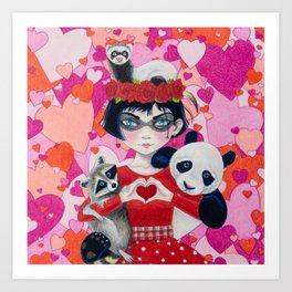 Love Bandits Art Print