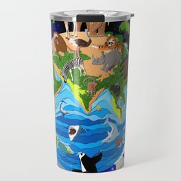 A World of Animals Travel Mug