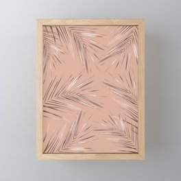 Rose Gold Palm Leaves 3 Framed Mini Art Print