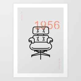 The Lounge Chair Art Print