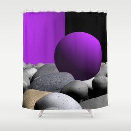 pink or violet -9- Shower Curtain