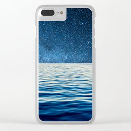 Sailing into space Clear iPhone Case