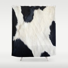 Cowhide Black And White Shower Curtain